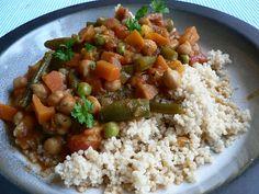 Marokkanisch beeinflusster Gemüseeintopf mit Kichererbsen - kuechenlatein.com