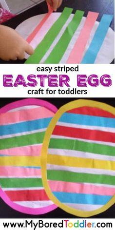 Striped Easter Egg Craft easy striped easter egg craft for toddlers to make - a fun Easter craft for toddlers and preschoolers using paper.easy striped easter egg craft for toddlers to make - a fun Easter craft for toddlers and preschoolers using paper. Easy Preschool Crafts, Easter Crafts For Toddlers, Easter Arts And Crafts, Spring Crafts For Kids, Bunny Crafts, Daycare Crafts, Easter Crafts For Kids, Toddler Preschool, Easy Crafts