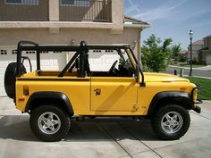 "Yellow Land Rover Defender 90 - aka Freddie Prinze, Jr.'s car in ""She's All That"""