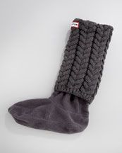 Hunter Boot Chunky Cable-Knit Long Welly Socks