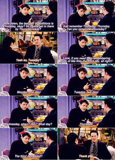 26: A life lesson I learned from Friends -How to remember Thursday thanks to Joey