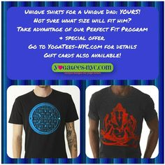 Father's Day is coming. Great gifts for your yogi Dad! Get 20% off with the Perfect Fit program. Go to www.yogatees-nyc.com for details.  #YogaDude #YogaForMen