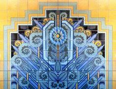 Spanish Deco Half Panel 72 by 54 inch tile | RTK Studios