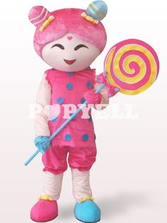 #Mascotte #fille #Costume Costume Mascotte Fille Avec Sucette en Peluche a prix pas cher chez Popyell.com