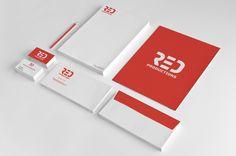 Produção de toda a Imagem Corporativa para a marca de gestão e organização de eventos RED PRODUCTIONS.