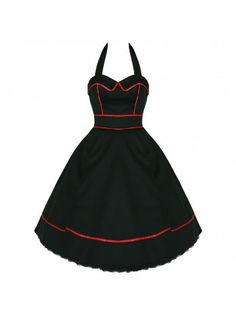 Black with Red Piping   DRESS - H&R