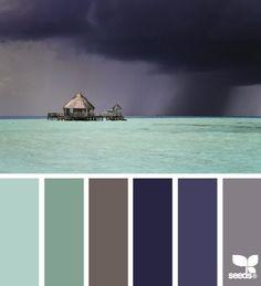 color storm _ palette from design seeds Design Seeds, Paint Schemes, Colour Schemes, Color Combos, Colour Combinations Interior, Colour Pallette, Color Palate, Beach Color Palettes, Colour Board