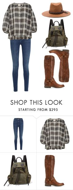 """""""explore"""" by needlework ❤ liked on Polyvore featuring J Brand, Nili Lotan, Burberry, Frye and Maison Michel"""