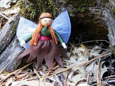 Woodland Flower Fairy Waldorf Bendy Doll Dollhouse Doll