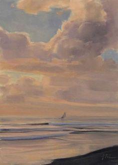 Winter Skies  7x5 Oil -- Joe Mancuso