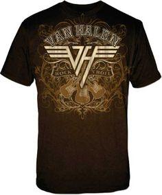 Van Halen shirt - rock fashion - band tees - http://www.band-tees.com/store/V_00050_010!FEA/Van+Halen+Rock+N+Roll+T-shirt