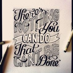Hand lettering: practicing and experimenting with this new medium by Roxy Prima