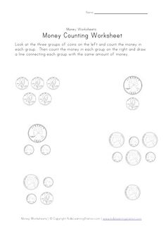 counting and coloring money worksheets ideal with this worksheet you can get the kids to. Black Bedroom Furniture Sets. Home Design Ideas