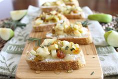 This apple and goat cheese crostini with rosemary is savory, tart and sweet all wrapped up in one bite.