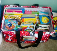 Thirty-One Deluxe Utility Tote-Great for Kids' books-holds up to 100 lbs!