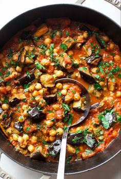 Chickpea Recipes, Beef Recipes, Vegetarian Recipes, Cooking Recipes, Healthy Recipes, Vegan Eggplant Recipes, Aubergine Recipe Healthy, Cooking Onions, Side Dishes