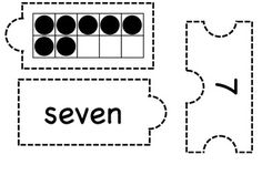 """Here's a set of number puzzles for the numbers 1-10. Pieces include number words, tally marks, ten frames, and a """"plus one"""" addition sentence."""