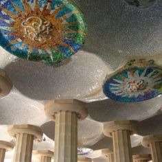 Ceiling in Parc Guell
