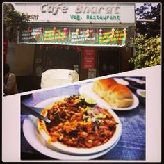 Cafe Bharat,opposite Churchgate Station.Serving Office goers and college students with special lunches but we are talking abt its famous 'Missal Pav' spicy and tasty with its original authentic taste ! U should try once atleast. We rate them 8/10 what do you think ? #foodiezmumbai #mumbai #MissalPav #spicy #food