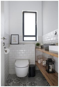 Our Downstairs Bathroom MakeoverOur Downstairs Bathroom Makeover - Design * SpongeToilet - View 31 inspiring examples of a toilet view example .Toilet - See 31 inspiring examples of a toilet view examples an inspiring toiletteClosing Small Bathroom Renovations, Bathroom Design Small, Bathroom Interior Design, Bathroom Designs, Small Bathrooms, Bathroom Ideas, Bathroom Storage, Bad Inspiration, Bathroom Inspiration