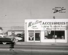 Barris Hollywood Kustom Line, 11054 So. Atlantic Blvd. Lynwood, California, 1954.