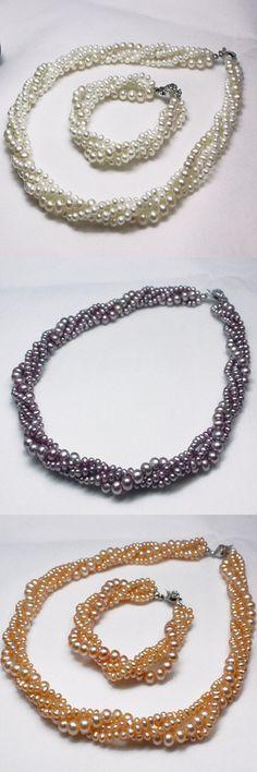 rice pearl jewelry set