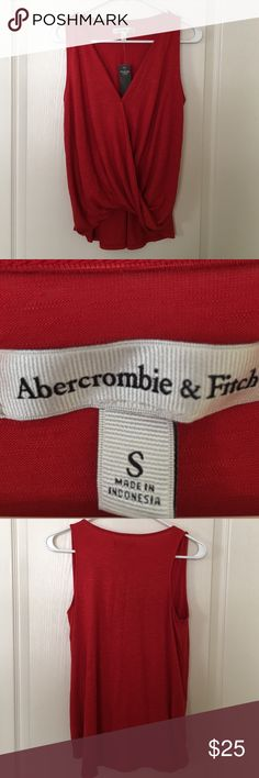 Abercrombie & Fitch tank top size S New With tags Abercrombie & Fitch drapery wrap front tank  size S New With Tags Abercrombie & Fitch Tops Tank Tops