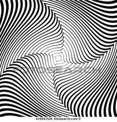 desenho, monocromático, whirlpool, movimento, ilusão, experiência., abstratos, faixa, linhas, torção, backdrop., Vector-art, ilustração Ampliar Gráfico Clipart