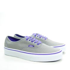 Tenis Vans Authentic VN0TSV Cinza e Roxo