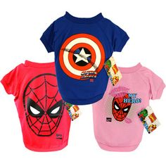 Costumes for the pooch...Super Hero Dog Tee 3 Pack now featured on Fab.
