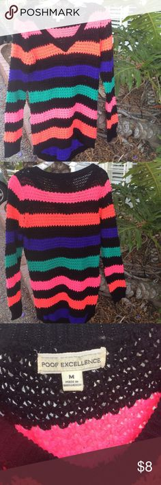 Knitted Sweater V-Neck sweater. Never worn! Bright and cute😘 Proof Excellence  Sweaters V-Necks