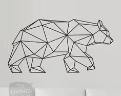 Geometric Deer Decal Geometric Deer Wall Art Home by LivingWall