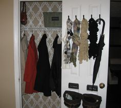 Next project on my list, Coat closet. This one is so cute I love the wall decal!
