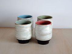 Handmade Modern Pottery Tumbler Set of 4 by ClaraLanyiCeramics
