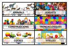 Rètols pel material d'aula - Estrella Vilar - Álbumes web de Picasa Pre School, Teaching, Baseball Cards, School, Animals, Classroom Setup, Calendar, Computer File