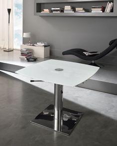 Tavolo Allungabile Valla In Vetro E Metallo Grigio 122