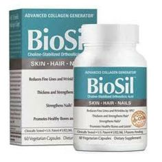 Amazon.com: Biosil Hair, Skin, and Nails 60 VegiCaps: Health & Personal Care