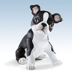 [Boston Terrier Item Of The Day] Boston Terrier Puppy Figurine By Lenox
