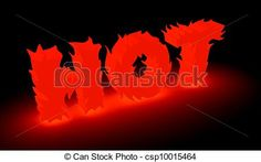 """Stock Illustration - Word """"hot"""" made from flame - stock illustration, royalty free illustrations, stock clip art icon, stock clipart icons, logo, line art, pictures, graphic, graphics, drawing, drawings, artwork"""