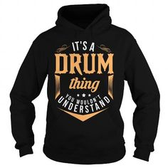 DRUM T Shirts, Hoodies, Sweatshirts. CHECK PRICE ==► https://www.sunfrog.com/LifeStyle/DRUM-121026190-Black-Hoodie.html?41382