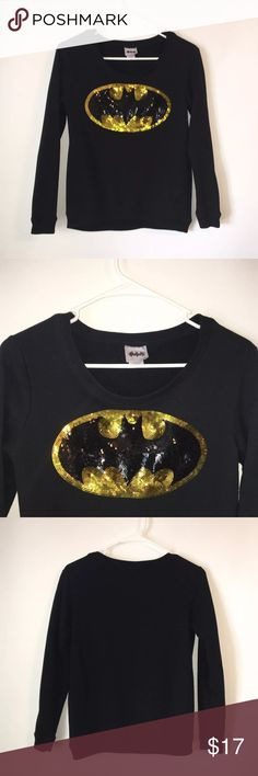 DC Comics 2013 Batman Dazzle Lightweight Sweater Brand: DC Comics Item name: Rare 2013 Batan Dazzle Women's Lightweight Sweater  		 Color: Black  Condition: This is a pre-owned item. It is in excellent used condition with no stains, rips, holes, etc. Comes from a smoke free household. Size: Women's Small Measurements:  Pit to Pit - 16.5 inches Neckline to bottom - 20 inches DC Comics Sweaters