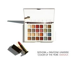 Sephora + Pantone Universe Pure Marsala Matte Lip Creme & Facets of Marsala Multi-Finish Eye Palette