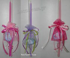 Διπλές λαμπάδες με μπιζού xeirotexnima.blogspot.com