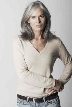 "Ingrid Becker, looks fabulous for her age ~ one of the ""silver foxes"""