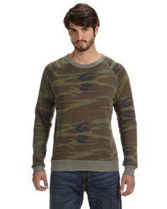2ba302815c259 Alternative Men's Champ Eco-Fleece Solid Sweatshirt AA9575 CAMO 391 Anvil  Ladies' Sheer Scoop-Neck Tee
