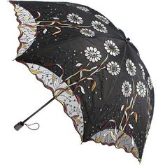 New Women Embroidery Flower Sun Rain Umbrellas Anti UV Lace two folding Parasol #RainbowHouse #Parasol