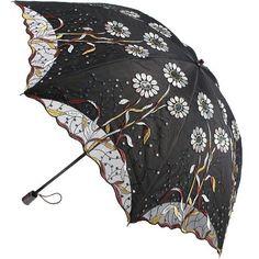 New Women Embroidery Flower Sun Rain Umbrellas Anti UV Lace two folding Parasol #RainbowHouse #Parasol