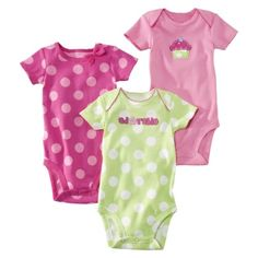 Just One You made by Carter's Infant Girls' 3-pk. Polka Dot Bodysuit Set - Pink.Opens in a new window