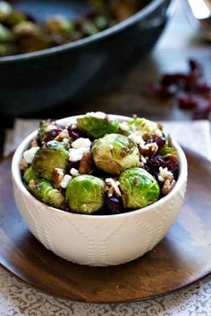 Pan Roasted Brussels sprouts are a delicious, hearty, vegetarian side dish recipe that's perfect for Thanksgiving or Christmas! #Thanksgiving #healthy #sidedish #sides #recipes #brusselssprouts #vegetarian #glutenfree #Christmas