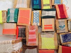 Wow! These boxes are spectacular! Laura Fischer (via Textile Arts Center Blog)